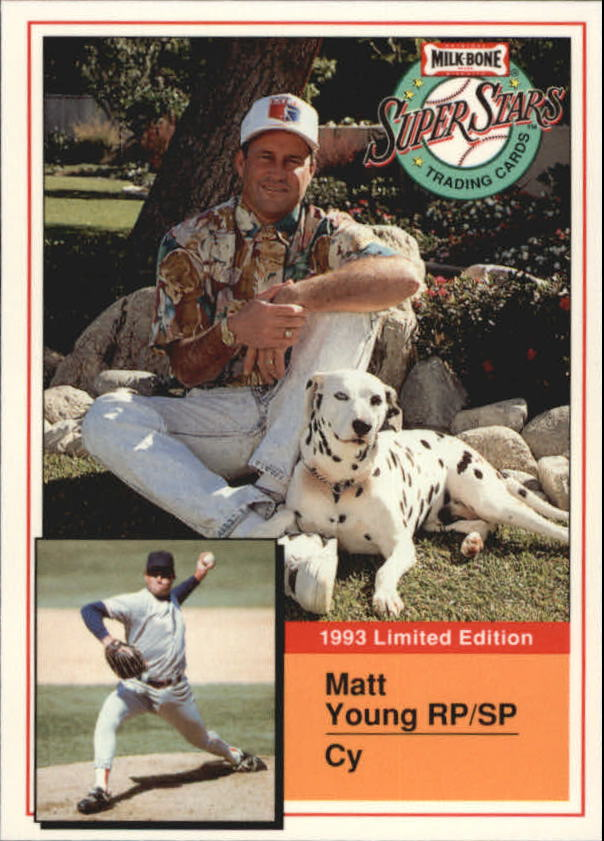 1993 Milk Bone Super Stars #9 Matt Young