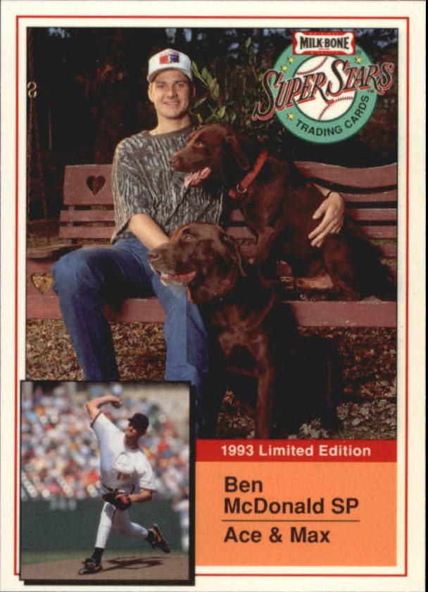 1993 Milk Bone Super Stars #14 Ben McDonald