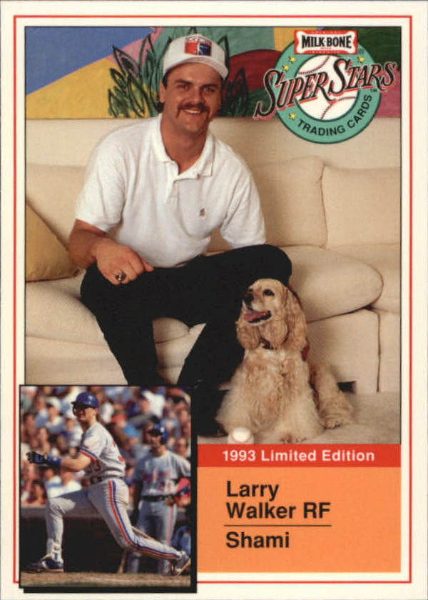 1993 Milk Bone Super Stars #15 Larry Walker