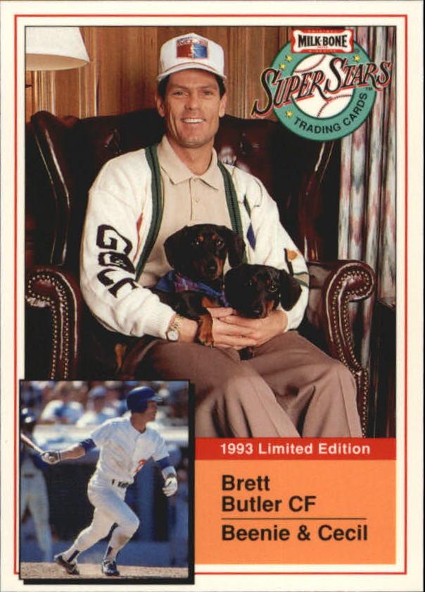 1993 Milk Bone Super Stars #17 Brett Butler