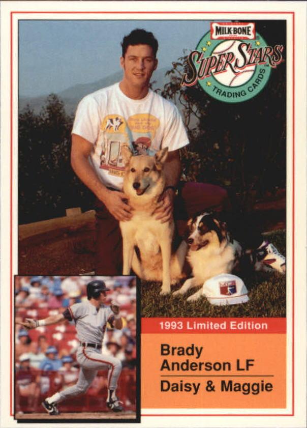 1993 Milk Bone Super Stars #19 Brady Anderson