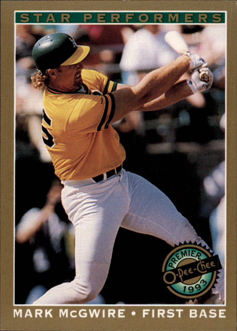 1993 O-Pee-Chee Premier Star Performers #16 Mark McGwire