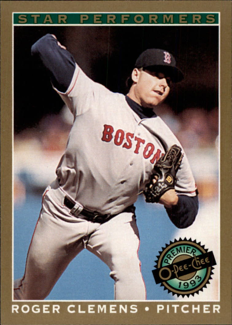 1993 O-Pee-Chee Premier Star Performers #18 Roger Clemens