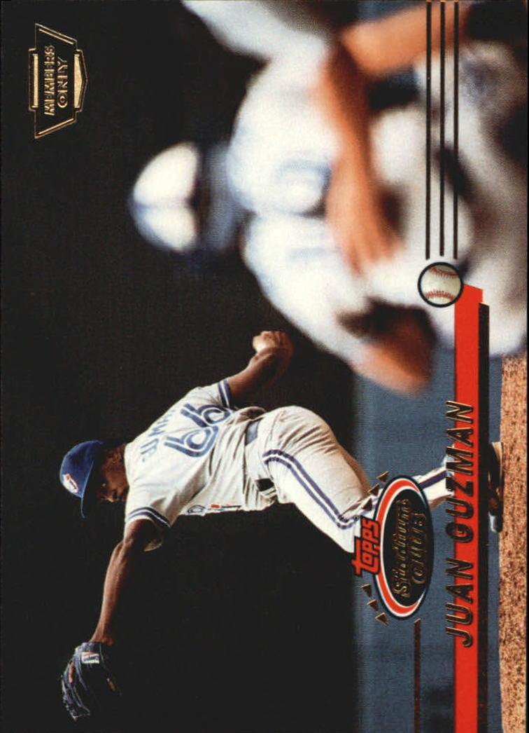 fec2ea6519c 1993 (BLUE JAYS) Stadium Club Members Only Parallel  244 Juan Guzman ...