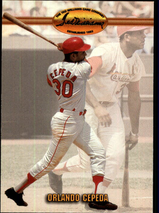 1993 Ted Williams #87 Orlando Cepeda UER/(Born in Puerto Rico&/not Dom