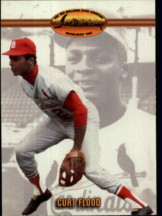 1993 Ted Williams #88 Curt Flood
