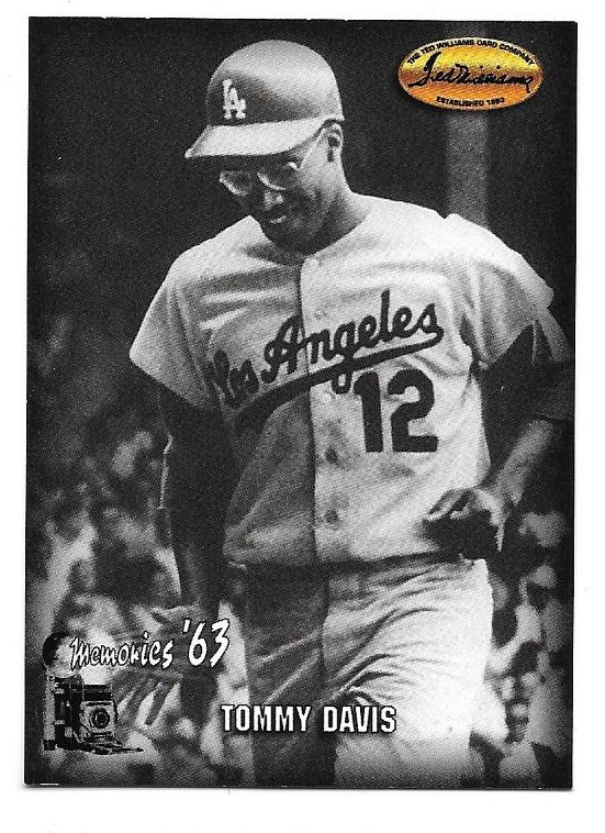 1993 Ted Williams Memories #7 Tommy Davis