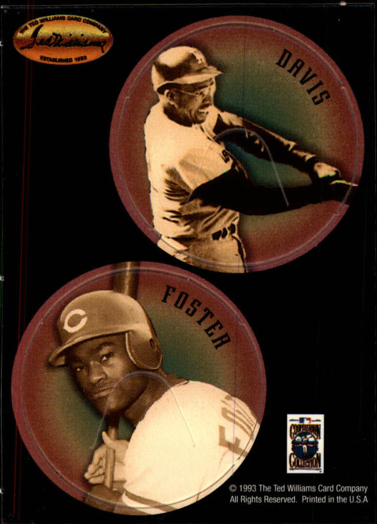 1993 Ted Williams POG Cards #25 Tommy Davis/George Foster