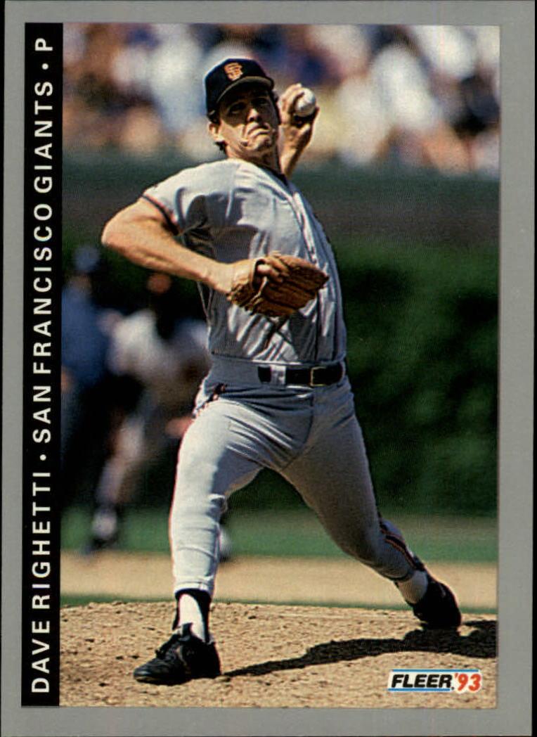 1993 Fleer #537 Dave Righetti