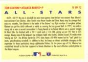 1993 Fleer All-Stars #NL11 Tom Glavine NL back image