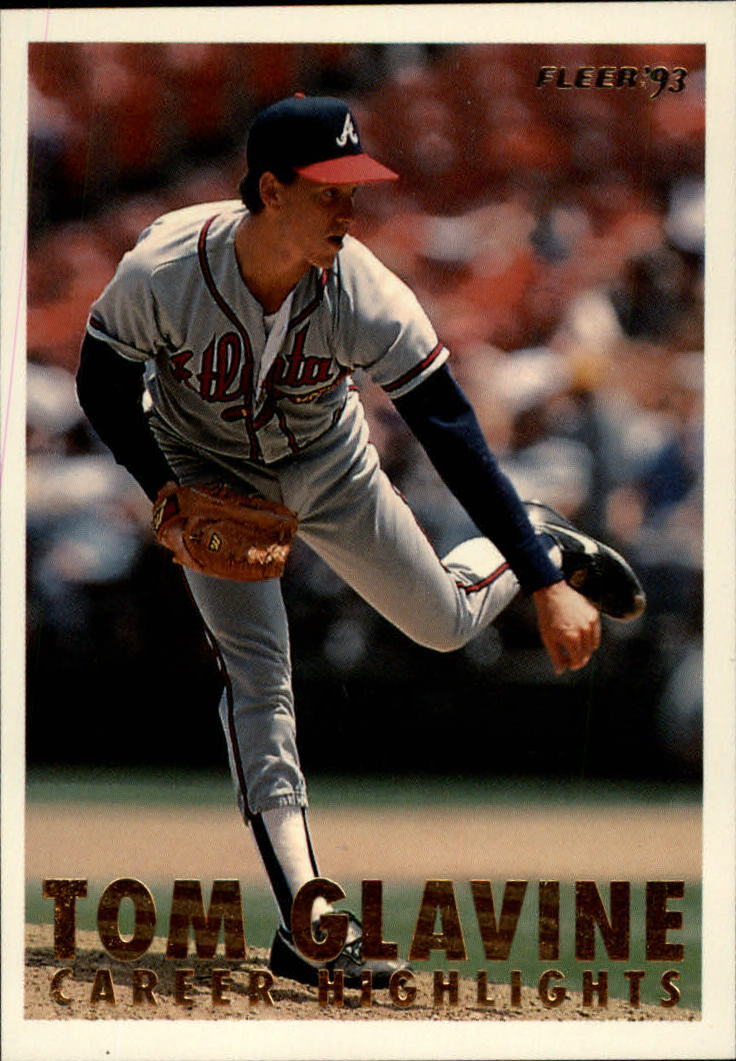 1993 Fleer Glavine #3 Tom Glavine/Facing left