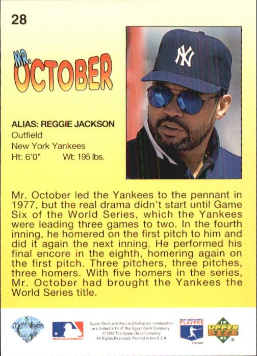 1993 Fun Pack #28 Reggie Jackson HERO back image
