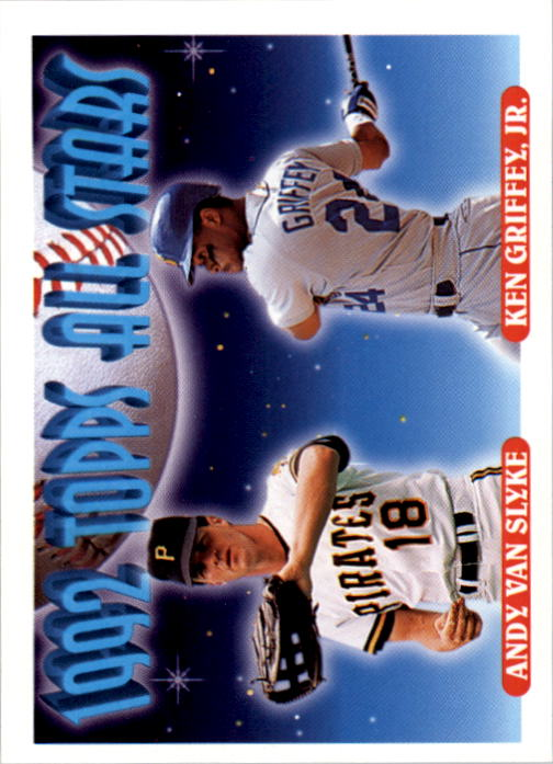 1993 Topps #405 Andy Van Slyke/Ken Griffey Jr. AS