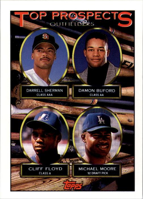 1993 Topps #576 Darrell Sherman/Damon Buford/Cliff Floyd/Michael Moore