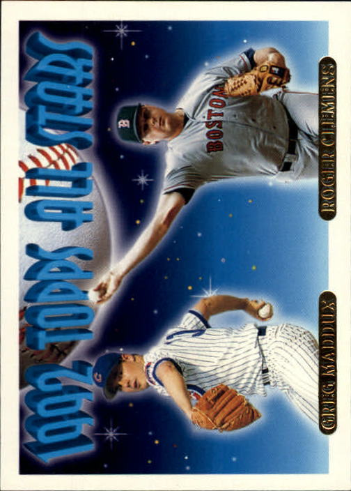 1993 Topps Gold #409 G.Maddux/R.Clemens AS