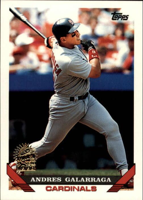 1993 Topps Inaugural Marlins #173 Andres Galarraga