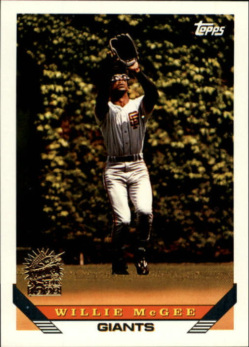 1993 Topps Inaugural Marlins #435 Willie McGee