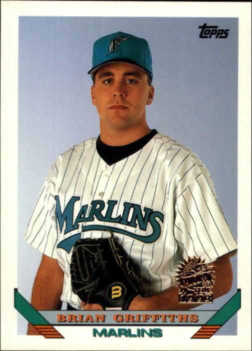 1993 Topps Inaugural Marlins #483 Brian Griffiths