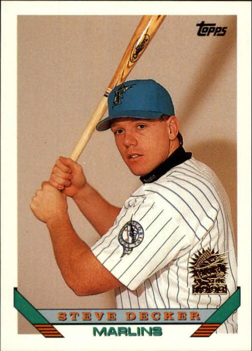 1993 Topps Inaugural Marlins #544 Steve Decker