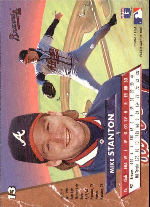 1993 Ultra #13 Mike Stanton back image