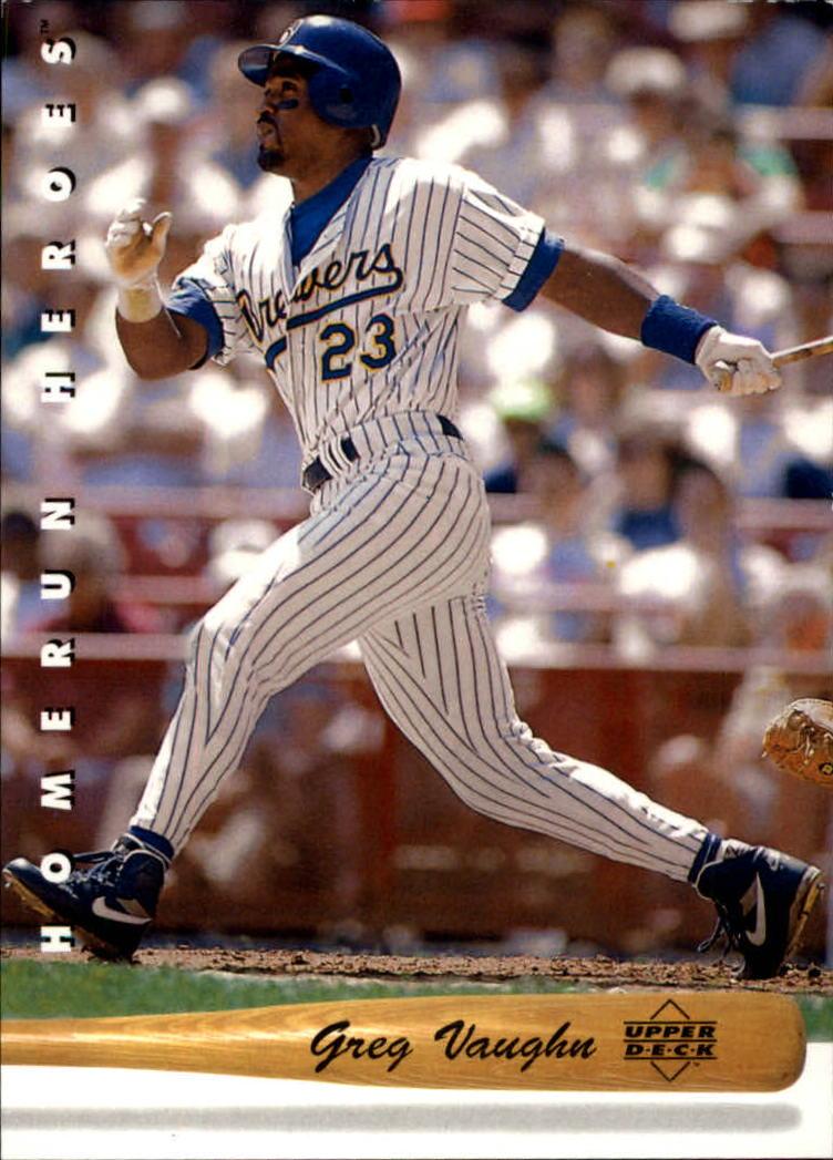 1993 Upper Deck Home Run Heroes #HR15 Greg Vaughn