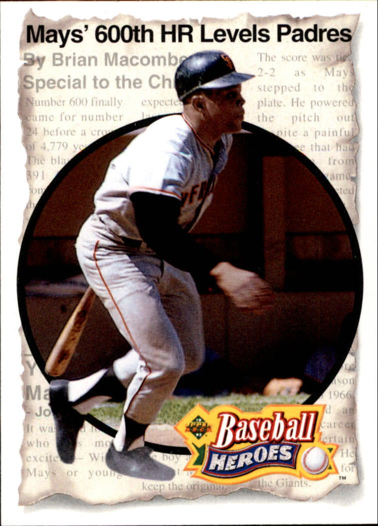 1993 Upper Deck Mays Heroes #51 1969 600-Home Run Club