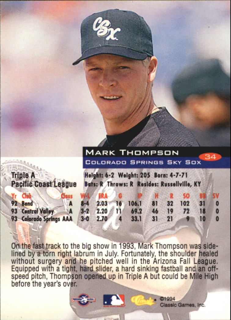 1994-Classic-Baseball-1-200-Your-Choice-GOTBASEBALLCARDS thumbnail 53