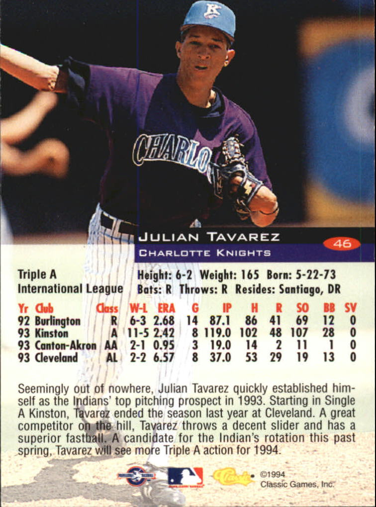 1994-Classic-Baseball-1-200-Your-Choice-GOTBASEBALLCARDS thumbnail 73