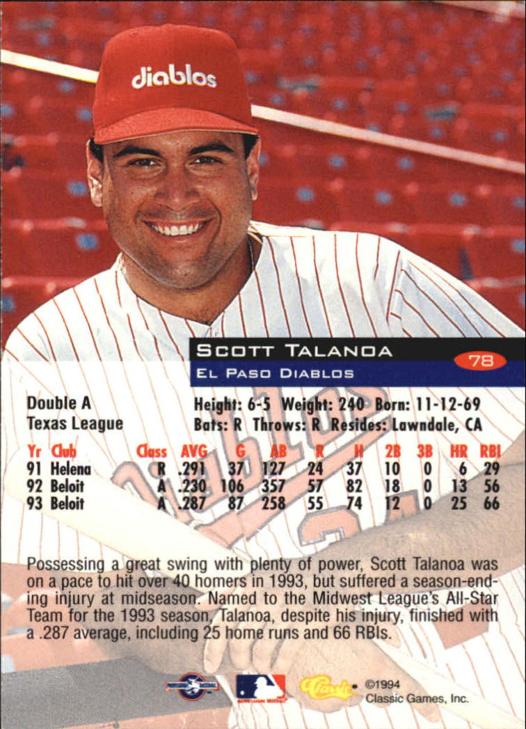 1994-Classic-Baseball-1-200-Your-Choice-GOTBASEBALLCARDS thumbnail 119