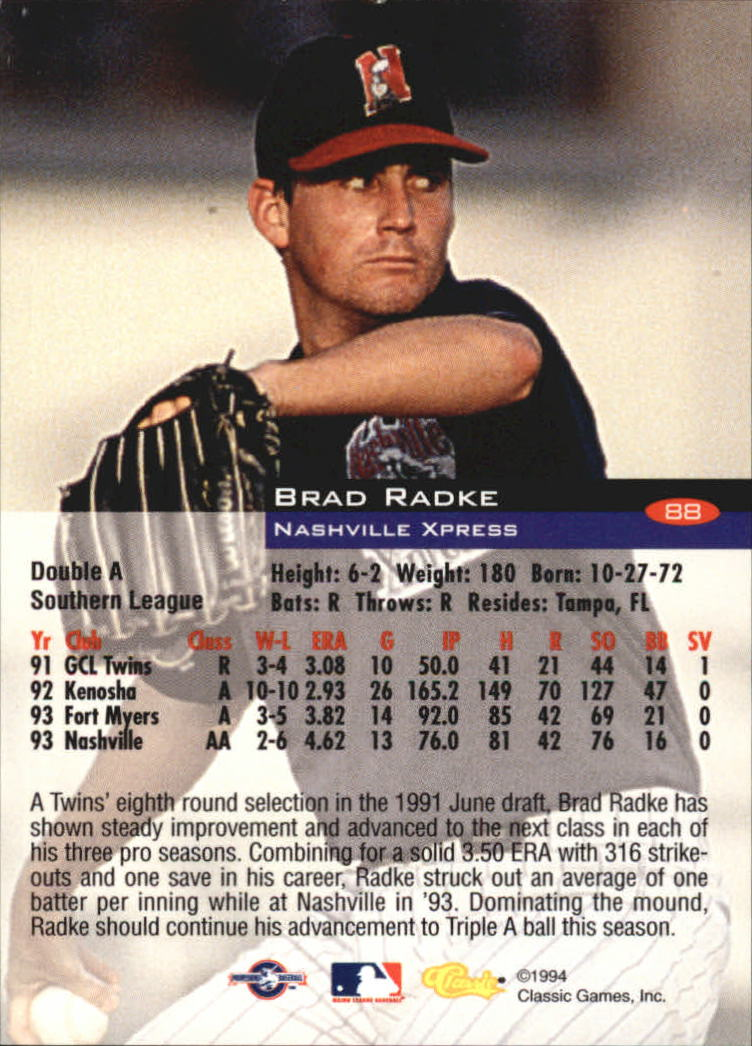 1994-Classic-Baseball-1-200-Your-Choice-GOTBASEBALLCARDS thumbnail 137