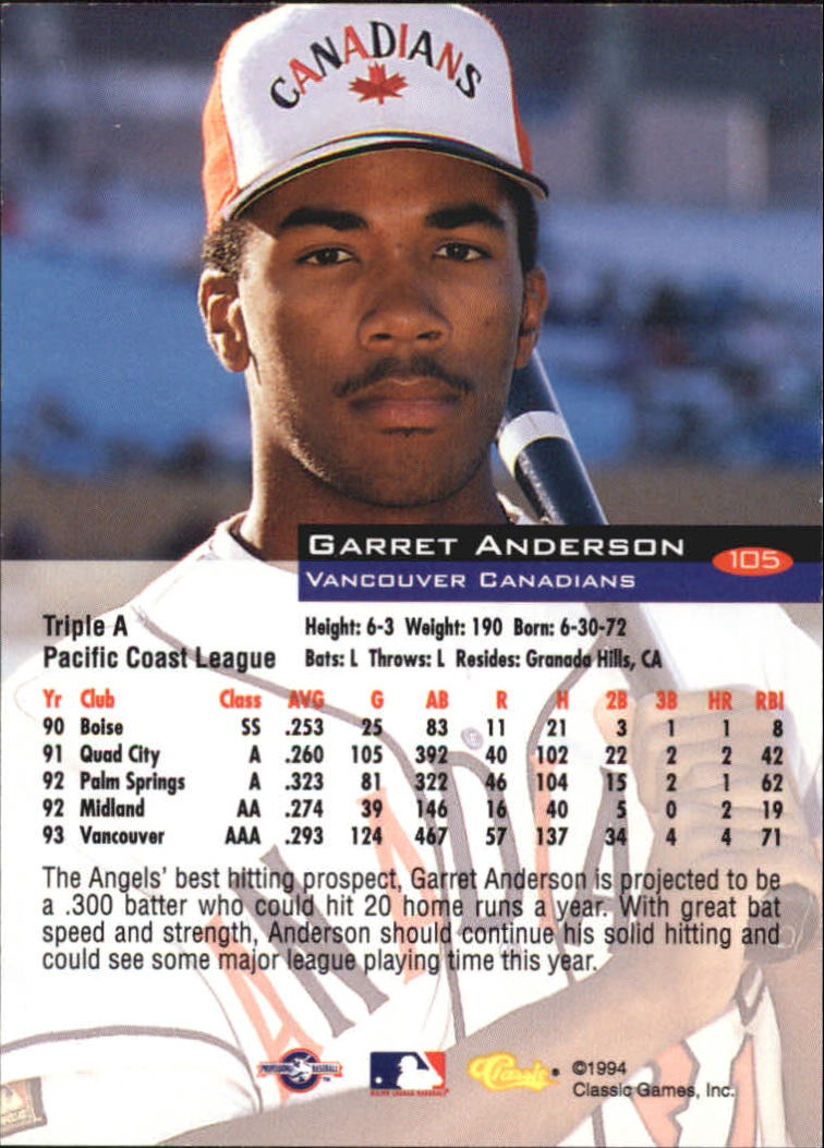 1994-Classic-Baseball-1-200-Your-Choice-GOTBASEBALLCARDS thumbnail 167
