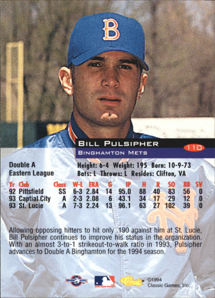 1994-Classic-Baseball-1-200-Your-Choice-GOTBASEBALLCARDS thumbnail 177