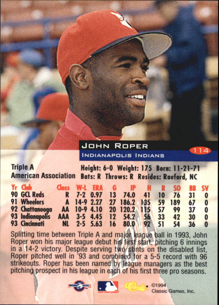 1994-Classic-Baseball-1-200-Your-Choice-GOTBASEBALLCARDS thumbnail 183