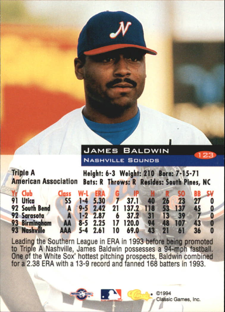 1994-Classic-Baseball-1-200-Your-Choice-GOTBASEBALLCARDS thumbnail 201