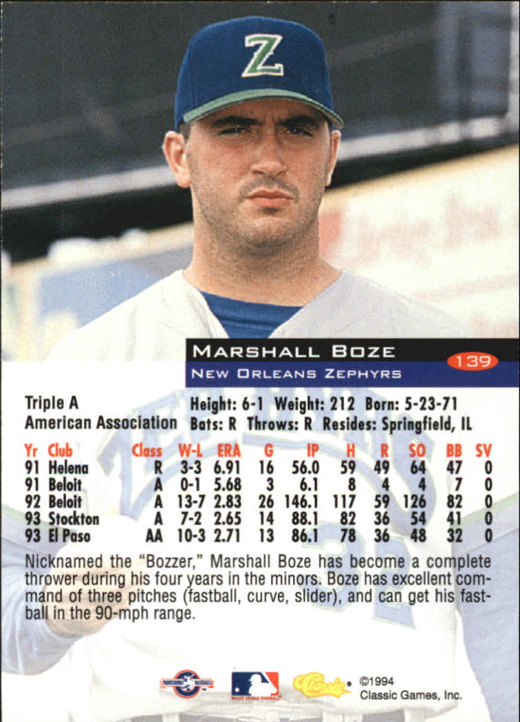 1994-Classic-Baseball-1-200-Your-Choice-GOTBASEBALLCARDS thumbnail 225