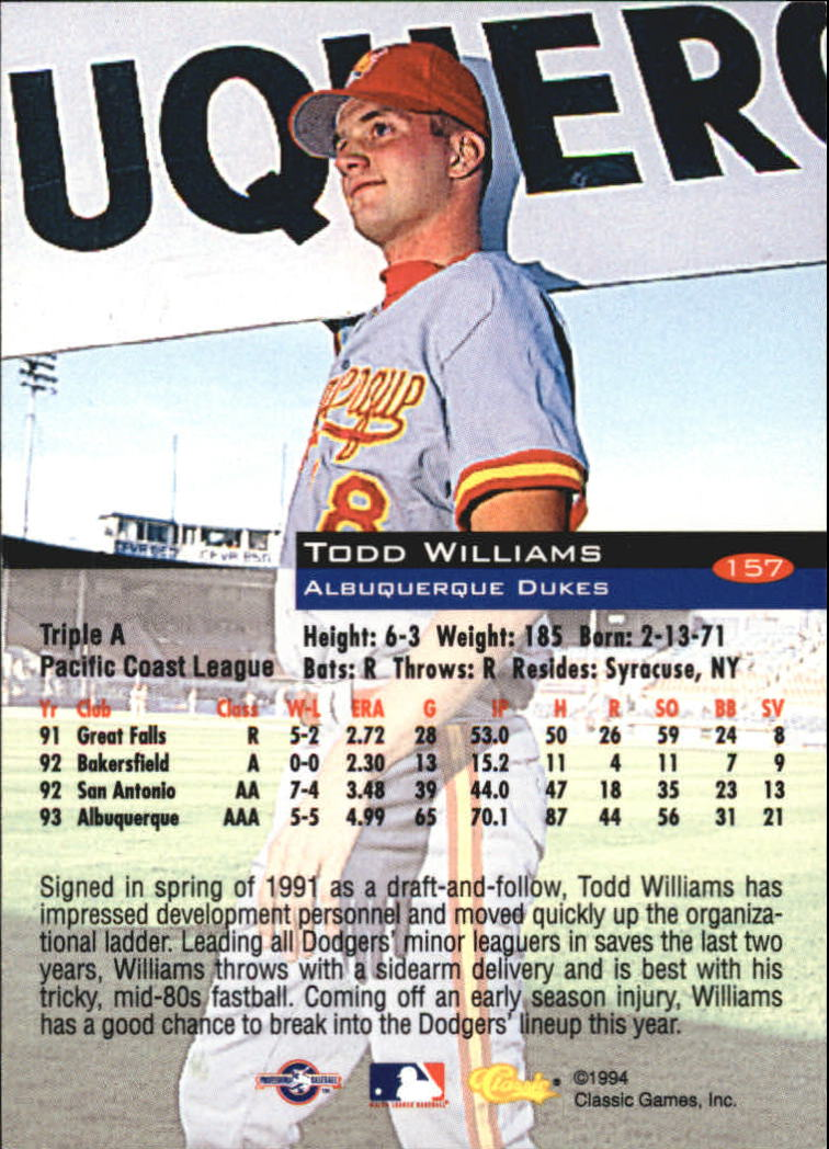 1994-Classic-Baseball-1-200-Your-Choice-GOTBASEBALLCARDS thumbnail 255