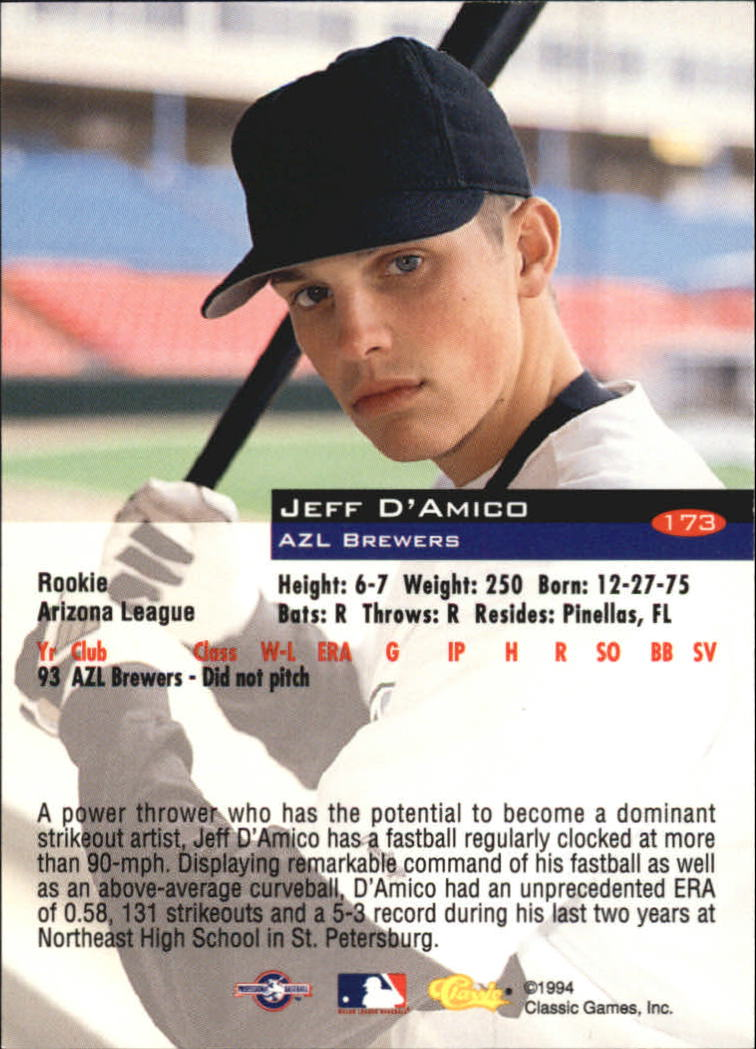 1994-Classic-Baseball-1-200-Your-Choice-GOTBASEBALLCARDS thumbnail 283
