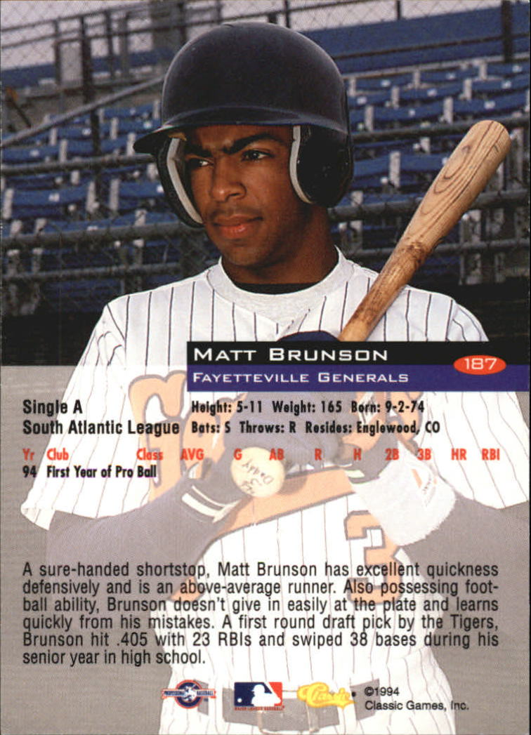 1994-Classic-Baseball-1-200-Your-Choice-GOTBASEBALLCARDS thumbnail 303