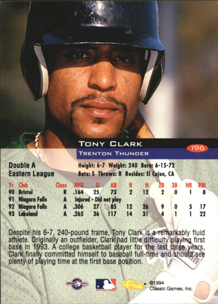 1994-Classic-Baseball-1-200-Your-Choice-GOTBASEBALLCARDS thumbnail 315