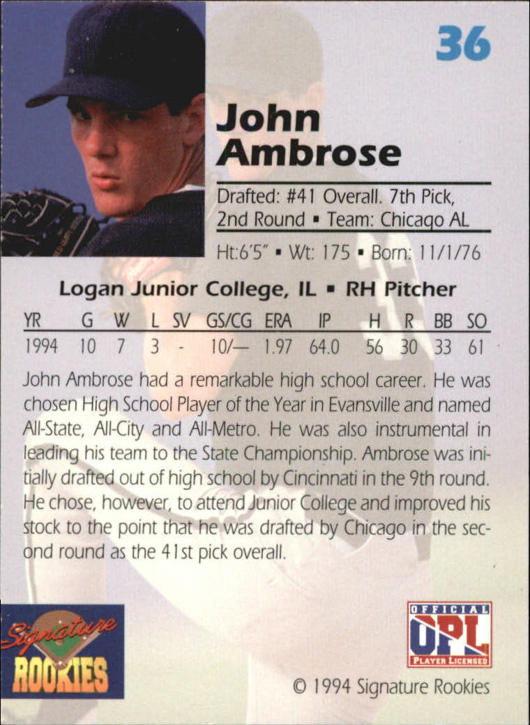 1994-Signature-Rookies-Draft-Picks-Signatures-You-Choose-GOTBASEBALLCARDS thumbnail 26