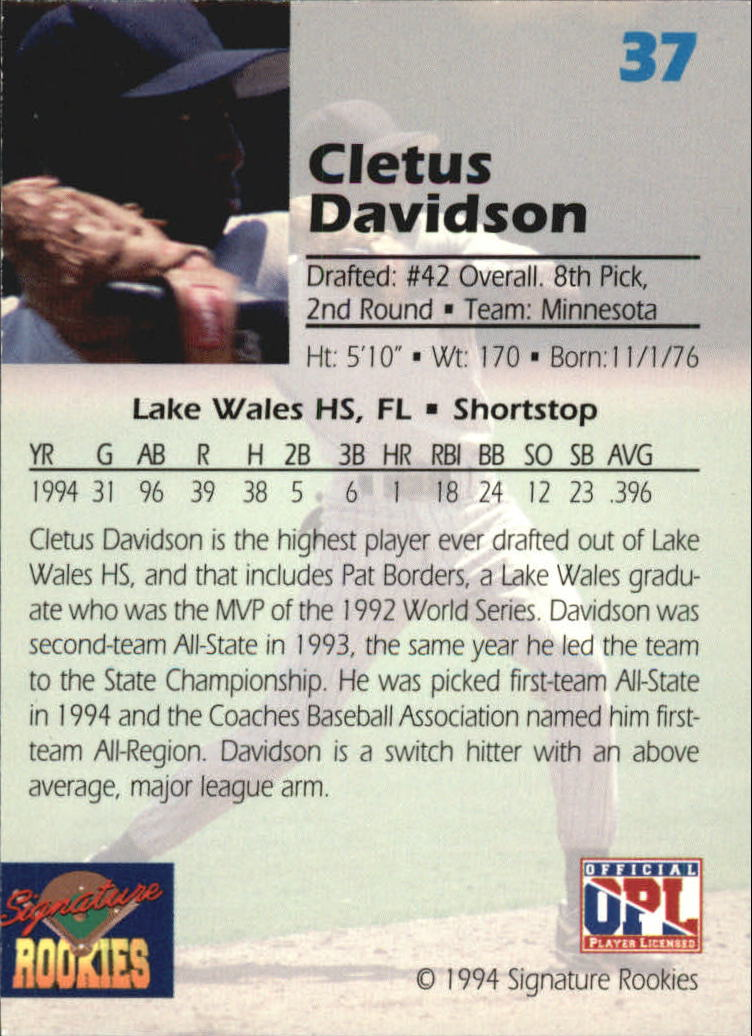 1994-Signature-Rookies-Draft-Picks-Signatures-You-Choose-GOTBASEBALLCARDS thumbnail 28