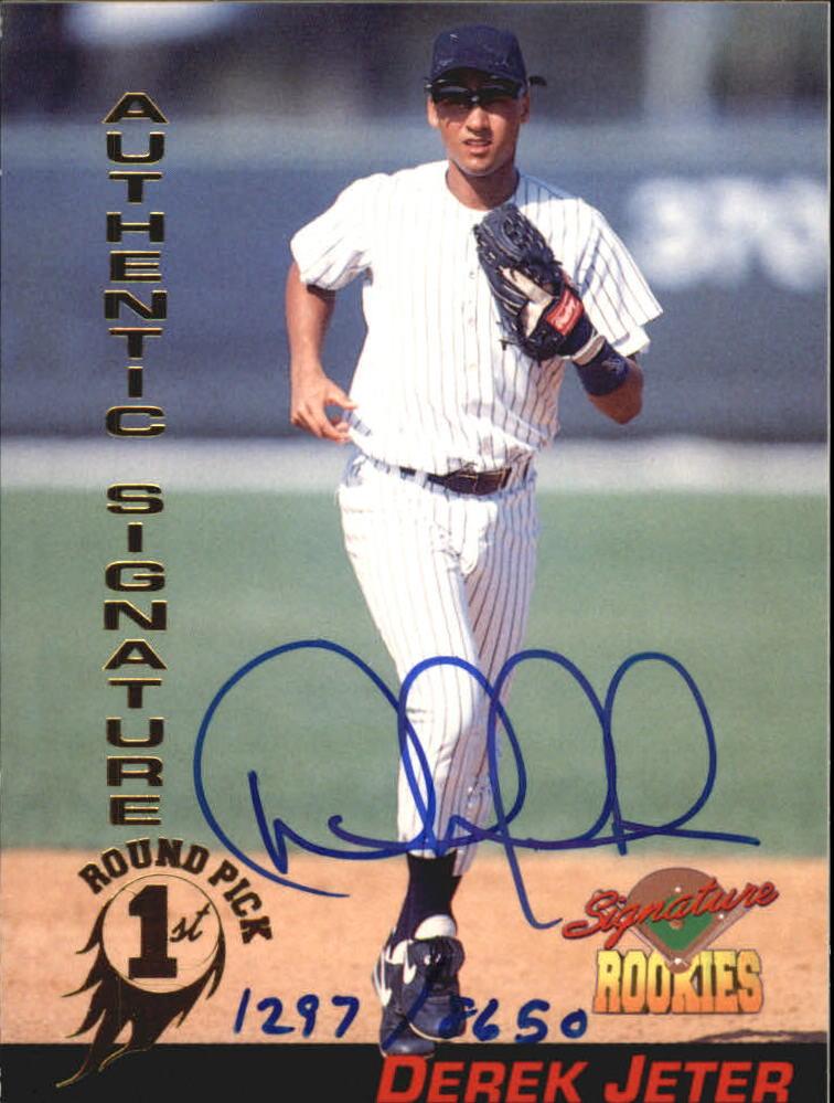 1994 Signature Rookies Signatures #35 Derek Jeter
