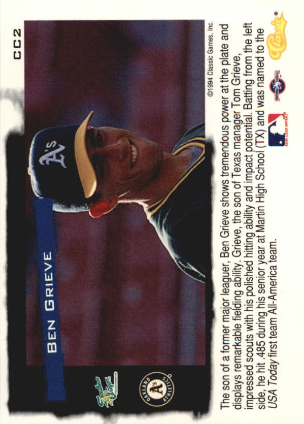 1994-Classic-Update-Cream-of-the-Crop-Baseball-1-20-Your-Choice-COMBINE-S-H thumbnail 3