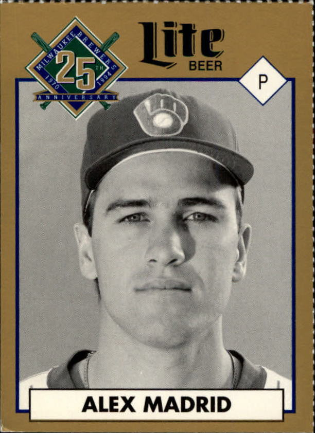 1994 Brewers Miller Brewing #53 Alex Madrid