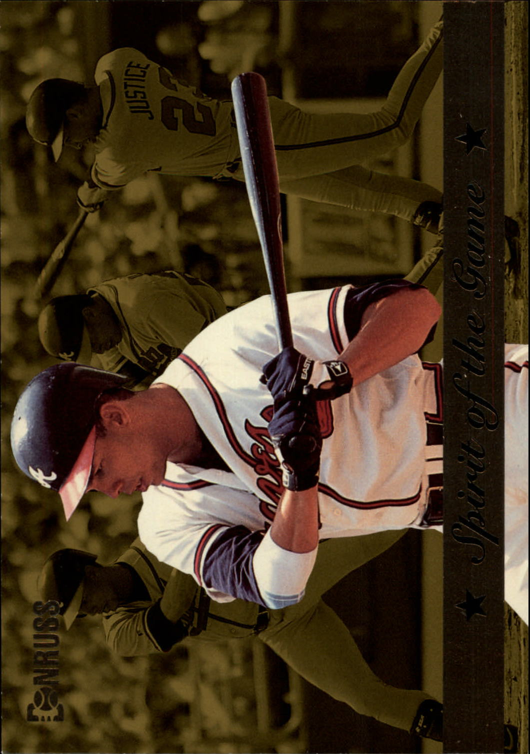 1994 Donruss Spirit of the Game Jumbos #8 David Justice