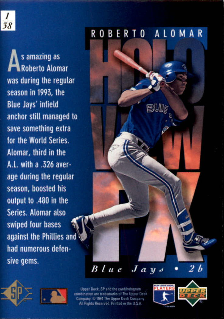 1994-SP-Holoviews-Baseball-1-38-Your-Choice-GOTBASEBALLCARDS thumbnail 3