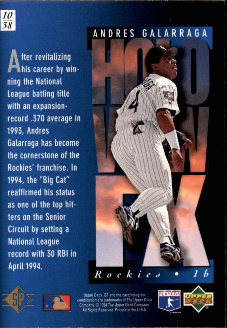 1994-SP-Holoviews-Baseball-1-38-Your-Choice-GOTBASEBALLCARDS thumbnail 19