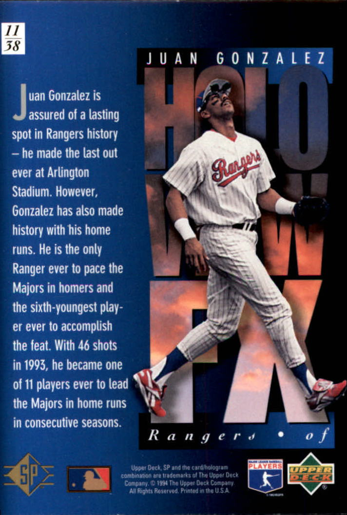 1994-SP-Holoviews-Baseball-1-38-Your-Choice-GOTBASEBALLCARDS thumbnail 21