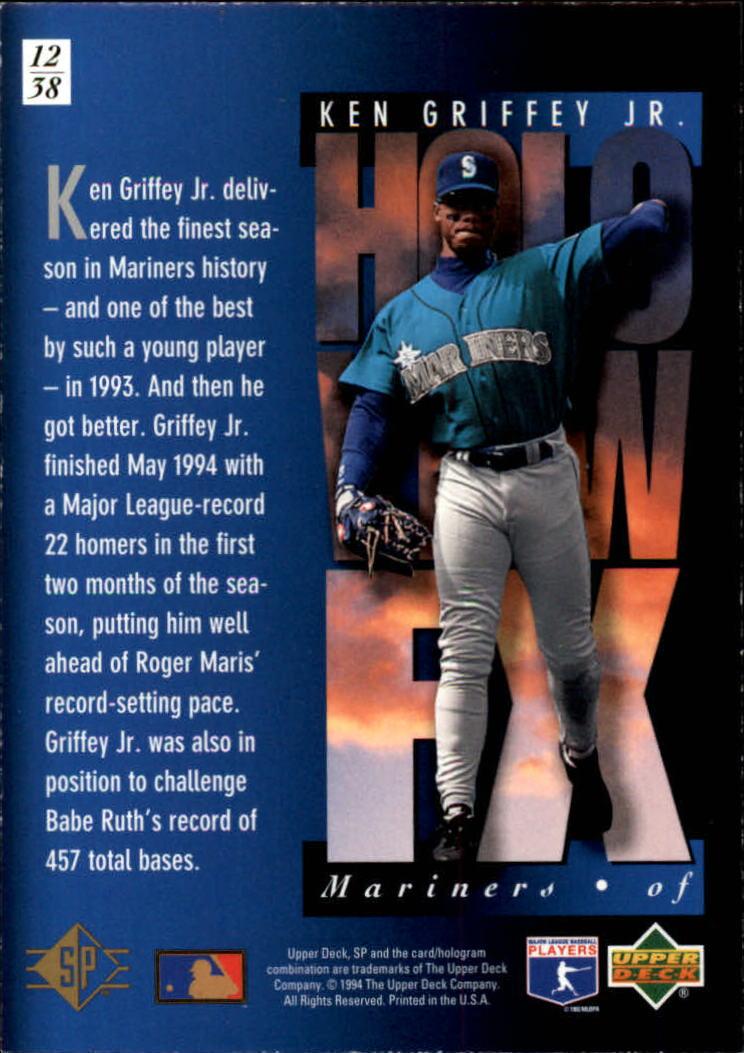 1994-SP-Holoviews-Baseball-1-38-Your-Choice-GOTBASEBALLCARDS thumbnail 23