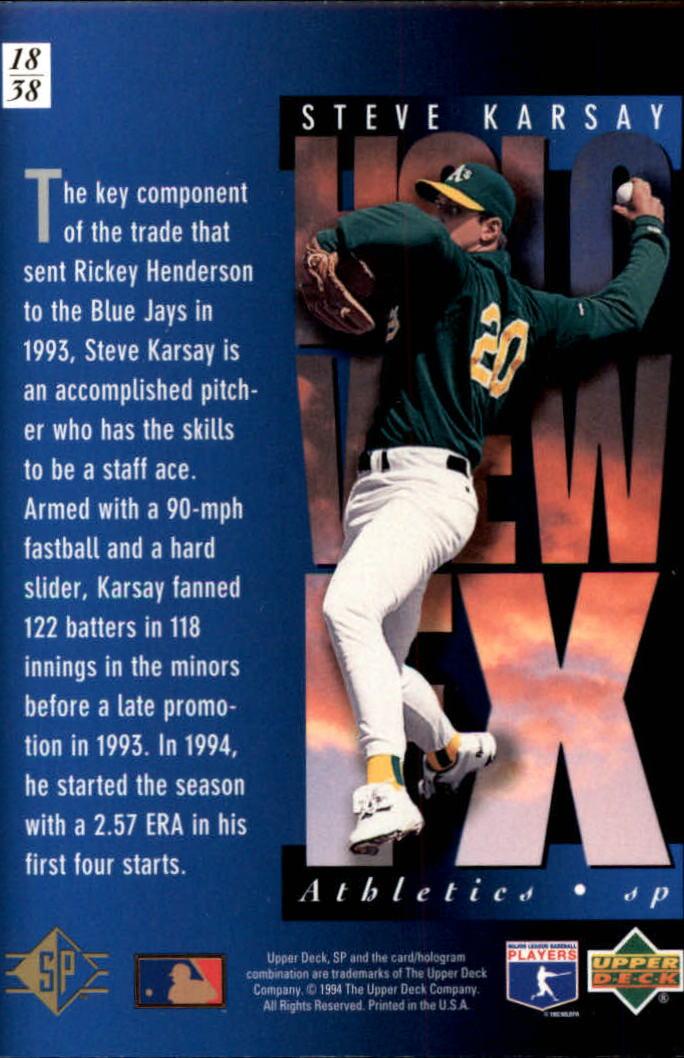 1994-SP-Holoviews-Baseball-1-38-Your-Choice-GOTBASEBALLCARDS thumbnail 29